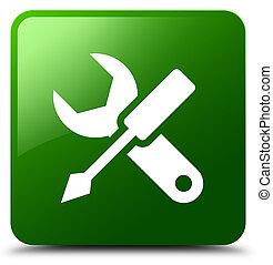 Settings icon green square button