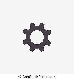 settings icon, isolated, white background