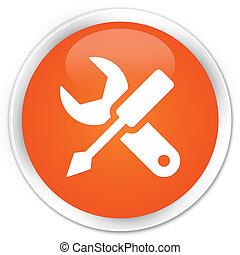 Settings icon orange button
