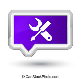Settings icon prime purple banner button