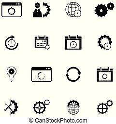 settings icon set