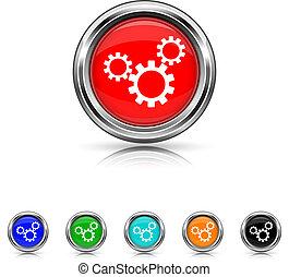 Settings icon - six colours set