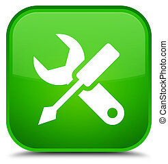 Settings icon special green square button