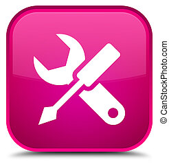 Settings icon special pink square button