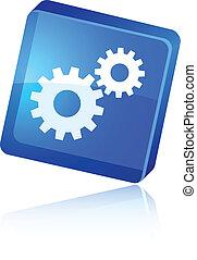 Settings icon. - Settings beautiful icon. Vector...