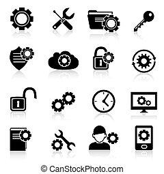Settings icons black
