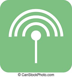 Settings Input Antenna - Antenna, cable, input icon vector...