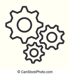 settings Outline Icon Vector flat design style. 10 eps