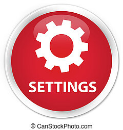 Settings premium red round button