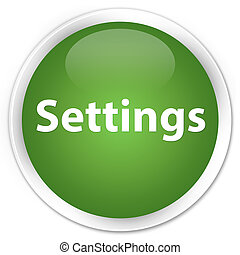 Settings premium soft green round button