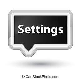 Settings prime black banner button