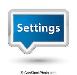 Settings prime blue banner button