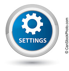Settings prime blue round button