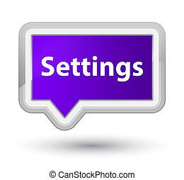 Settings prime purple banner button