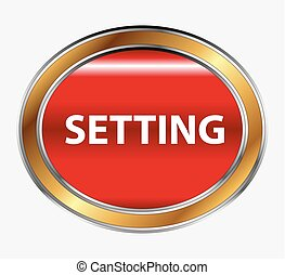 Settings sign button