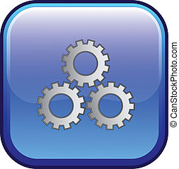 Settings Sign Vector Web Button Icon