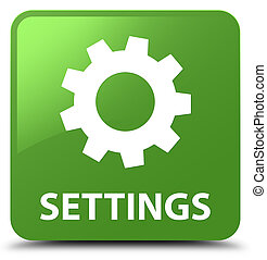 Settings soft green square button