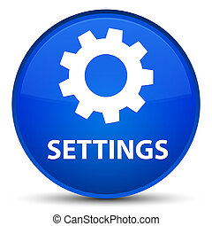 Settings special blue round button