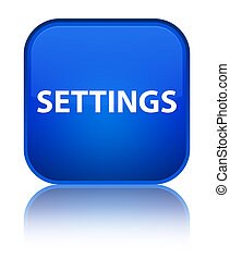 Settings special blue square button