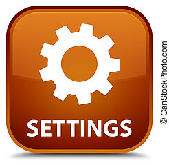 Settings special brown square button