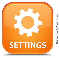 Settings special orange square button
