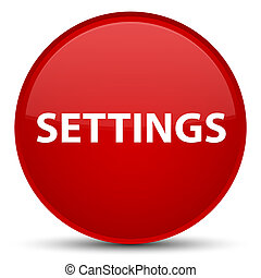 Settings special red round button