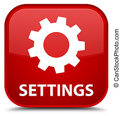 Settings special red square button