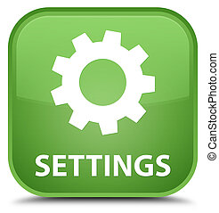 Settings special soft green square button