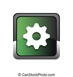 Settings square Vector green Web