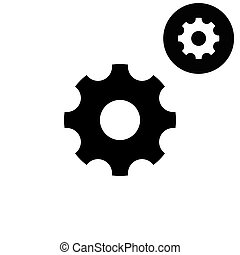 Settings -  white vector icon