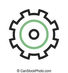 Settings - Wireless, settings, mobile icon vector image. Can...