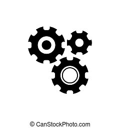 Settings with Additional Gears Vector Icon