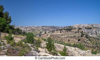 Settlement area near Bethlehem, Israel - Settlement area...