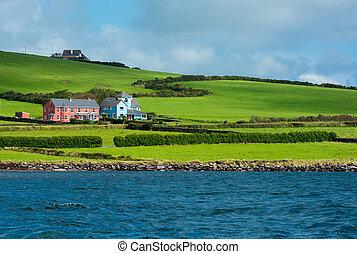 Settlement at Coast of Ireland - Scenic Settlement at Coast...