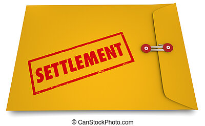 Settlement Legal Deal Agreement Envelope Stamp 3d...