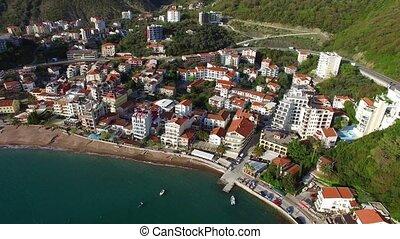 Settlement Rafailovici, Budva Riviera, Montenegro. The coast of