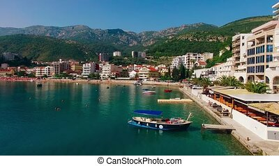 Settlement Rafailovici, Budva Riviera, Montenegro. The coast of