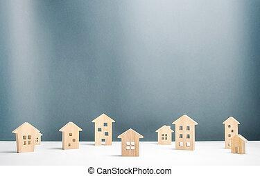 settlements., snow., bedeckt, nördlich , reise,...