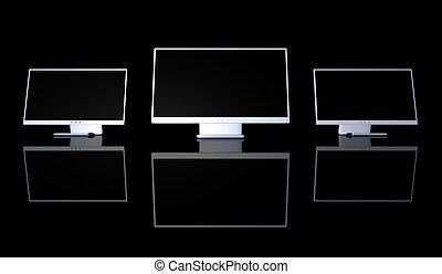 setup, monitor, triplo