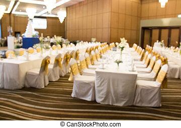 setup table banquet Wedding  style