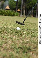 Setzen, Kugel, golfen
