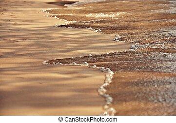 setzen sand strand, hintergrund