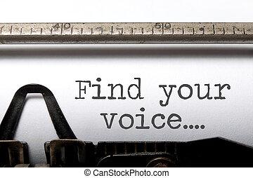 seu, achar, voz, inspiração