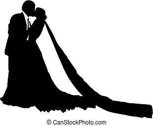 seu, casório, noivo, noiva