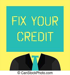 seu, conceitual, texto, dificuldade, credit., sinal,...