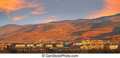 seu, de , urgell, χωριό , μέσα , lerida, urgel, μέσα , catalonia