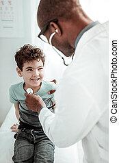 seu, doutor familiar, comunicar, atento, criança