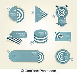 seu, etiquetas, papel, jogo, próprio, text., azul, lugar