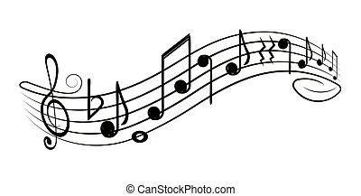 seu, g-clef, design., pessoal, ?, notas, música, elemento decorativo