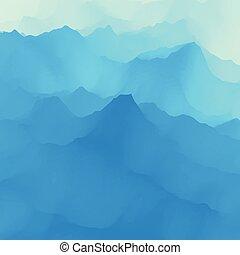 seu, natureza, vetorial, surface., experiência., ilustração...